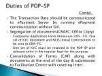duties of pop sp contd1