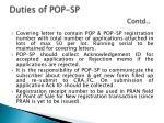 duties of pop sp contd2