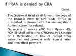 if pran is denied by cra contd