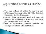 registration of pos as pop sp