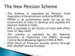 the new pension scheme