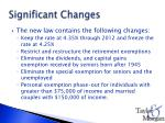 significant changes