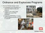 ordnance and explosives programs1