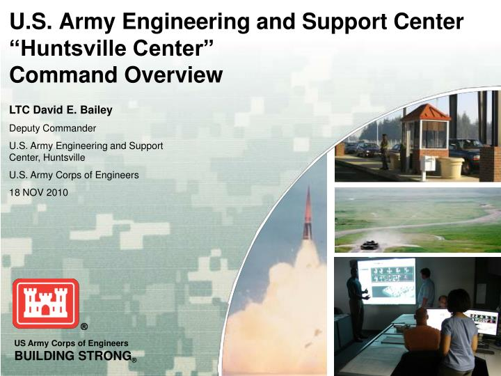u s army engineering and support center huntsville center command overview n.