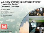 u s army engineering and support center huntsville center command overview