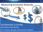 measuring economic diversity