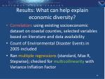 results what can help explain economic diversity
