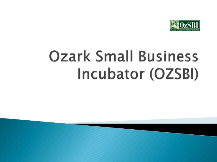 ozark small business incubator ozsbi n.
