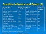 coalition influence and reach 2