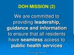 doh mission 2