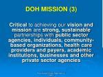 doh mission 3