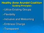 healthy anne arundel coalition guiding principles