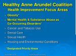 healthy anne arundel coalition health improvement focus areas