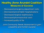 healthy anne arundel coalition measures of success