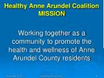 healthy anne arundel coalition mission