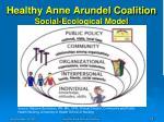 healthy anne arundel coalition social ecological model