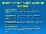healthy anne arundel coalition strategies