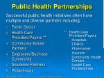 public health partnerships