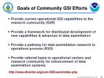 goals of community gsi efforts