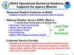 noaa operational numerical guidance supports the agency mission