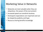 marketing value in networks3