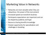 marketing value in networks4