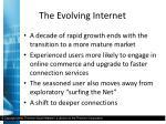 the evolving internet3