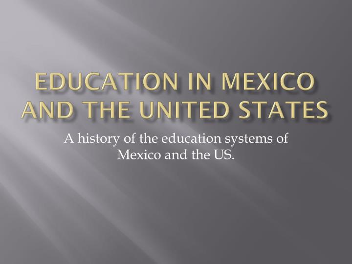 education in mexico and the united states n.