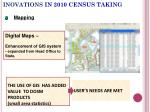 inovations in 2010 census taking