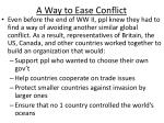 a way to ease conflict