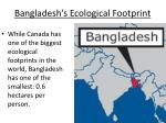 bangladesh s ecological footprint
