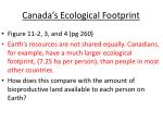 canada s ecological footprint