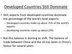 developed countries still dominate