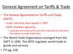 general agreement on tariffs trade