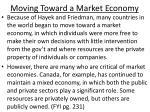 moving toward a market economy
