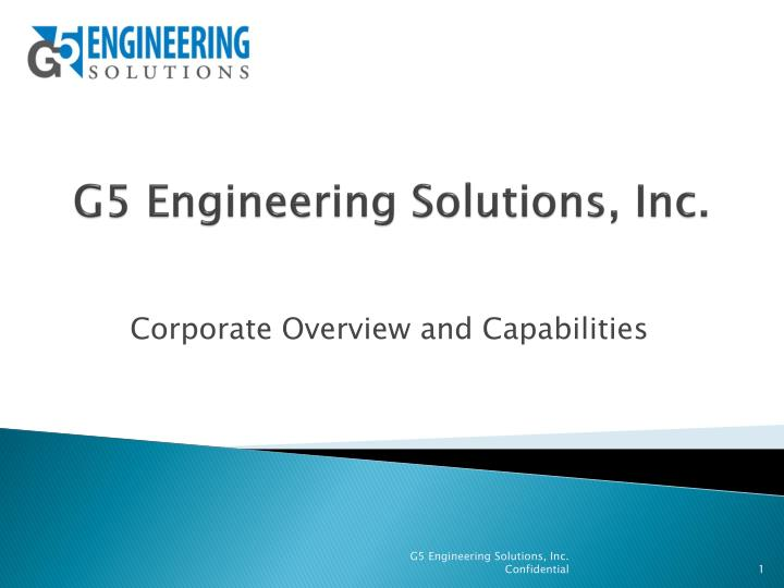 g5 engineering solutions inc n.