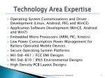 technology area expertise