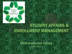 student affairs enrollment management