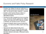 economic and public policy research