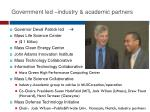 government led industry academic partners