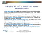 interagency task force on veterans small business development part ii