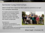 semester long internships