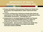 importance of health information exchange hie