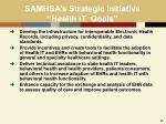 samhsa s strategic initiative health it goals