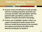 samhsa s strategic initiative health it