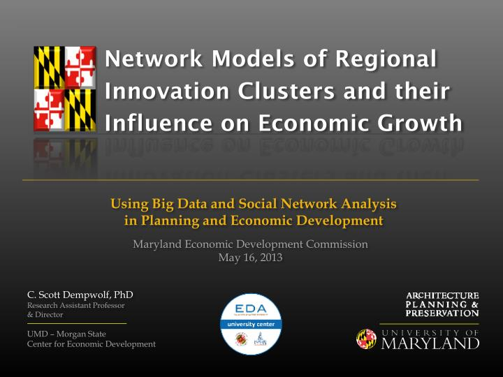 network models of regional innovation clusters and their influence on economic growth n.