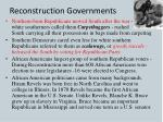 reconstruction governments