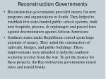 reconstruction governments1