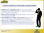 harsh statistics for msme stakeholders