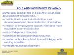 role and importance of msmes
